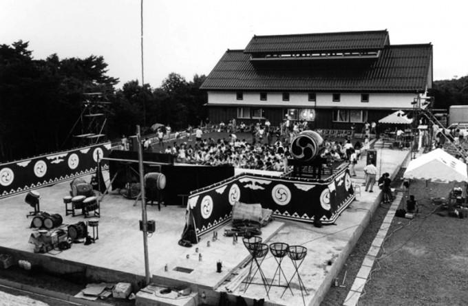 1988年7月、鼓童村開村コンサート。1992年には舞台部分に稽古場が建設された