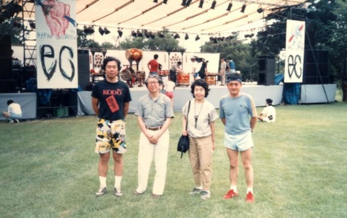 EC1988年城山にて