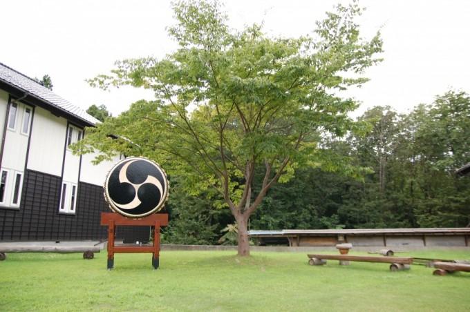 鼓童村の中庭