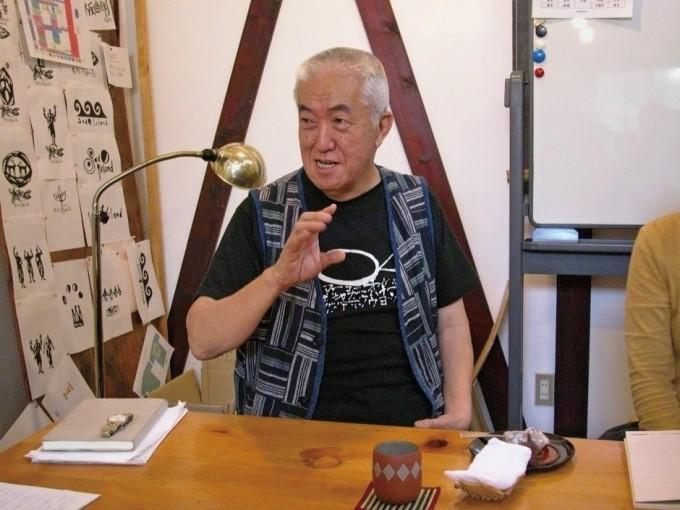 2003年鼓童村にて(写真:田中文太郎)