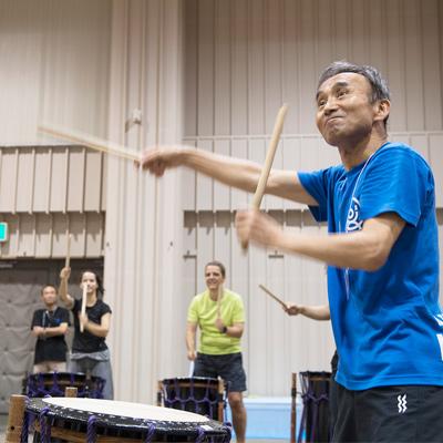 """[Earth Celebration 2018] Yoshikazu Fujimoto Taiko Workshop """"Taiko no Warabe – Children of the Drum"""" (Sado Is., Niigata)"""